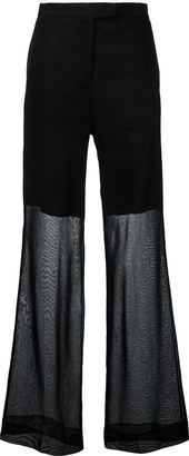 Yang Li Sheer Wide-Leg Trousers