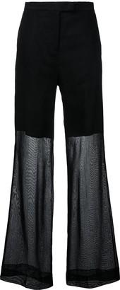 Yang Li sheer wide-leg trousers
