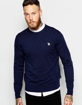 Paul Smith Jeans Jumper With Zebra Logo In Crew Neck - Blue