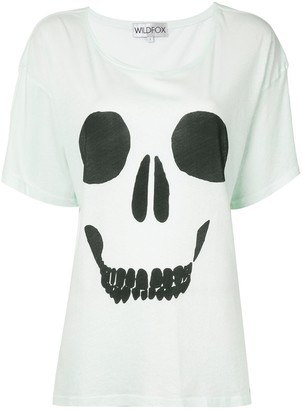 Wildfox Couture skull print slouchy T-shirt
