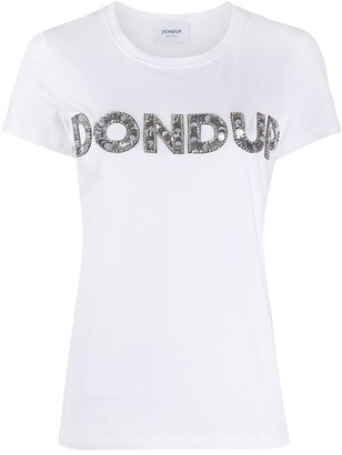 Dondup sequinned logo T-shirt