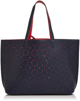 Echo Sunflower Reversible Laser-Cut Leather Tote