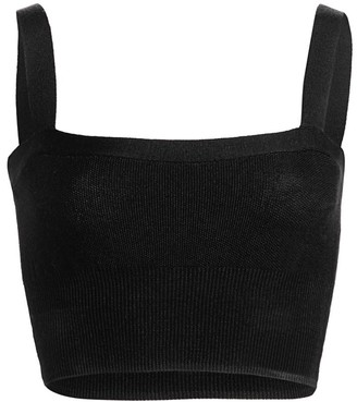 Victor Glemaud Sleeveless Knit Cropped Top