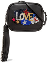 Saint Laurent Monogramme Blogger Appliquéd Leather Shoulder Bag - Black