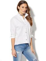 New York & Co. Hi-Lo Shirt - White