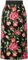 Dolce & Gabbana floral print pencil skirt - women - Silk/Spandex/Elastane/Viscose - 40