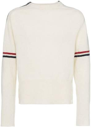 Thom Browne White wool jumper with stripes