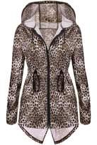 Meaneor Women's Hooded Zip Up Waterproof Trench Jacket Outdoor Women's Raincoat XXL