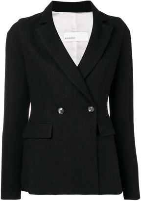 Gentry Portofino woven pinstripe blazer