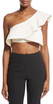Isabel Marant Hayo Ruffled One-Shoulder Crop Top