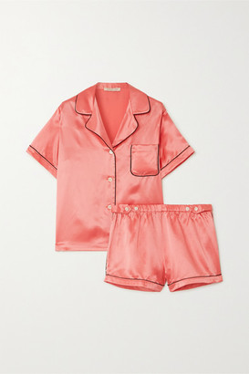 Morgan Lane Katelyn Fiona Satin Pajama Set - Coral