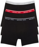 Michael Kors Men's Essentials Cotton Boxer Briefs, 3-Pack