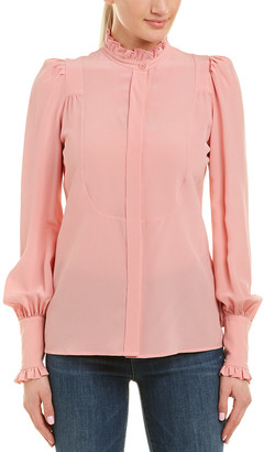 Isabel Marant Ruffle Silk Top