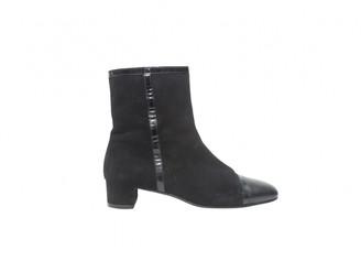 Salvatore Ferragamo Black Suede Ankle boots
