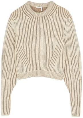 Chloé Cream Chunky-knit Wool-blend Jumper