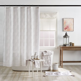 Peri Textured Paisley Stall Shower Curtain