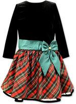 Jayne Copeland Drop-Waist Plaid Holiday Dress, Girls (7-16)