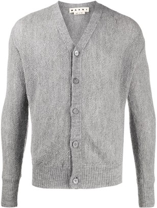 Marni V-Neck Fitted Cardigan