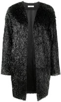 Lanvin trimmed coat - women - Polyamide/Polyester/Acetate/Wool - 36