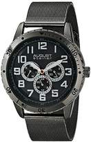 August Steiner Men's AS8115BK Multifunction Stainless Steel Watch with Mesh Band