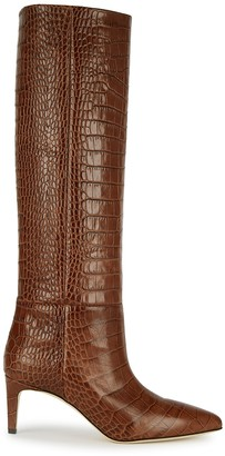 Paris Texas 65 Crocodile-effect Leather Knee-high Boots