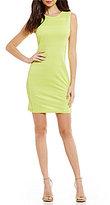 Armani Exchange A/X Mesh Body Con Sheath Dress