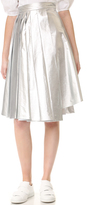 Awake Pleated Asymmetrical Skirt