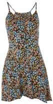 Topshop PETITE Asymmetric Hem Slip Dress