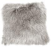 Le-Coterie Tibetan Lamb 24x24 Pillow, Gray