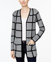 Charter Club Petite Windowpane Cardigan, Only at Macy's