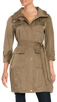 Ellen Tracy Belted Safari Trenchcoat