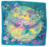 Hermes Flamingo Party Scarf
