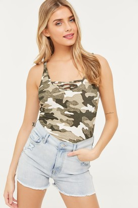 Ardene ME to WE Basic Camo Caged Tank Top