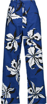 Marni Printed cotton-poplin wide-leg pants