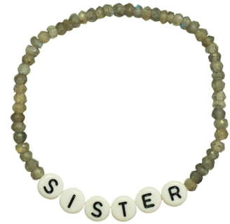 ADORNIA Sister Gemstone Beaded Bracelet