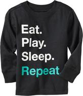 """Old Navy """"Eat. Play. Sleep. Repeat."""" Tees for Baby"""