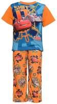 Disney Little Boys Orange Cars Lightning McQueen Print 2 Pc Sleepwear Set