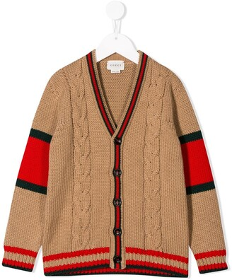 Gucci Kids knitted logo cardigan