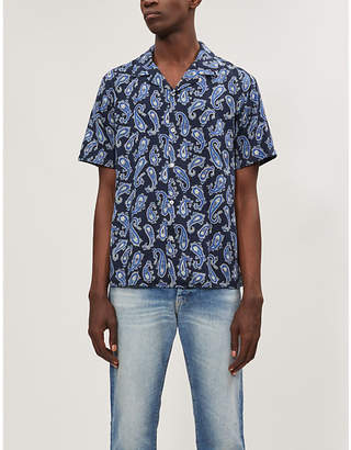 The Kooples Paisley-print relaxed-fit woven shirt