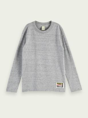 Scotch & Soda Long sleeve brushed cotton artwork t-shirt | Boys