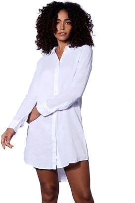 MC2 Saint Barth White Linen Shirt Dress