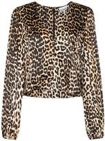 Ganni leopard print villa