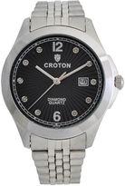 Croton Mens Silver Tone Bracelet Watch-Cn307562ssbd