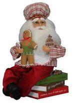 Gingerbread Santa on Cookbooks Figurine by Karen Didion