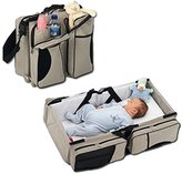 3 in 1 Diaper Bags Portable Crib Changing Station & Travel Bassinet Baby Travel Bed by WXDZ by WXDZ