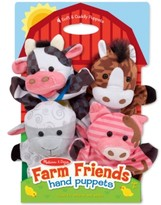 Melissa & Doug Kids' Farm Friends Hand Puppets Set