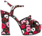 Saint Laurent Candy bow sandals - women - Silk/Leather - 35.5