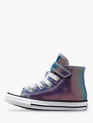Converse Children's Chuck Taylor All Star Iridescent Glitter Easy-On High Top Trainers