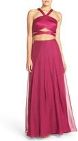 La Femme Two-Piece Ballgown