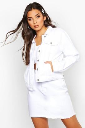 boohoo Crop jean jacket